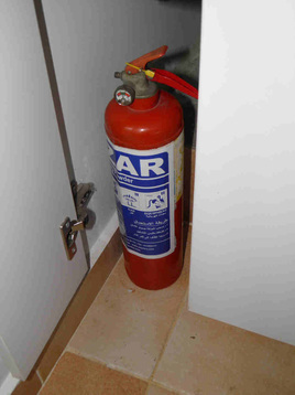 Fire extinguishers at home