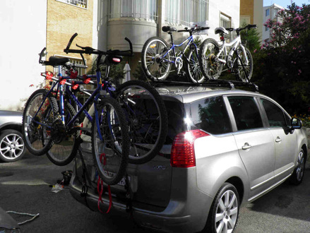 how to carry 5 bikes on any car